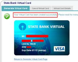 How To Use SBI Virtual Cards Online ?