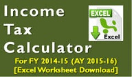 Income Tax Calculator FY 2014-15